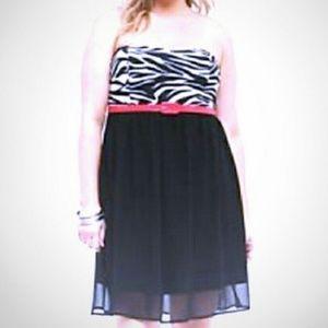 TORRID Strapless Chiffon mini-dress